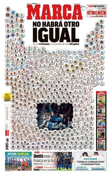 Trang bìa tờ Marca tri ân C.Ronaldo