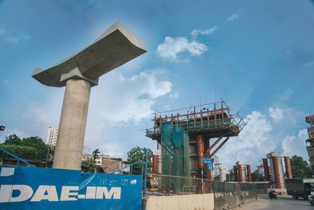 Dự án đường sắt đô thị Nhổn- ga Hà Nội vẫn chưa biết khi nào về đích (Ảnh: Toàn Vũ).