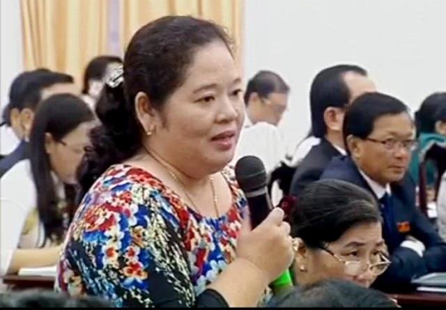 Đại biểu Hồ Thị Tuyết Nhung truy vấn trách nhiệm của Sở KH&CN.