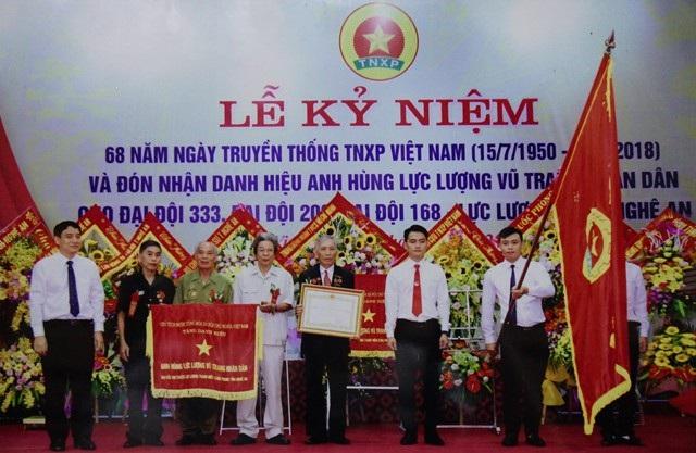 Đại đội 168 TNXP Nghệ An đón nhận danh hiệu Anh hùng lực lượng vũ trang nhân dân nhân kỉ niệm 68 năm Ngày Truyền thống TNXP Việt Nam