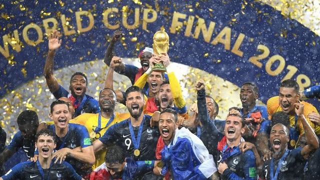 Pháp đã đánh bại Croatia với tỷ số 4-2 trong trận chung kết World Cup 2018 trên sân Luzhniki, đánh dấu lần thứ 2 Pháp giành vô địch World Cup. (Ảnh: Reuters)