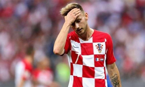 Nỗi buồn của Rakitic sau khi Croatia thua ở trận chung kết World Cup 2018