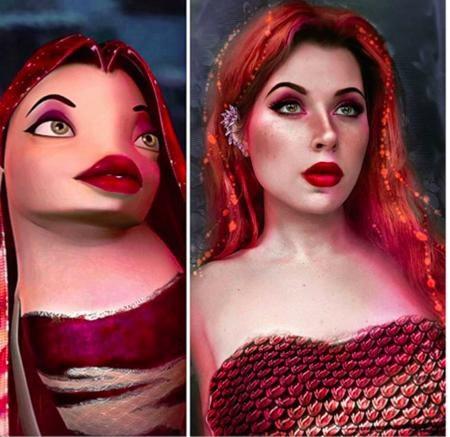 """Màn cosplay nàng cá Lola trong phim """"Shark tale"""" của Juliet Gudkova được đánh giá rất cao"""