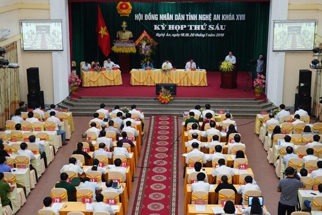 Kỳ họp thứ 6 HĐND tỉnh Nghệ An khóa XVII khai mạc sáng ngày 18/7