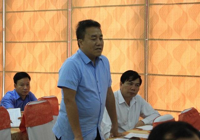 Đại biểu Lê Văn Giáp - Chủ tịch UBND huyện Quế Phong lo lắng về những hệ lụy khi thời gian hỗ trợ tái định cư thủy điện Hủa Na kết thúc.