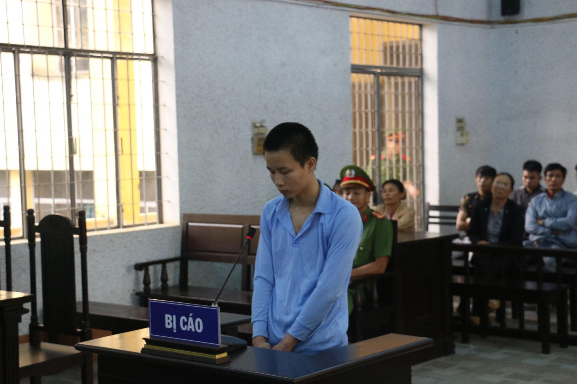 Bị cáo Thìn tại phiên tòa