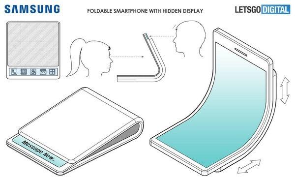 Smartphone gập được của Samsung sẽ được gập lại theo chiều dọc, như gấp một chiếc ví