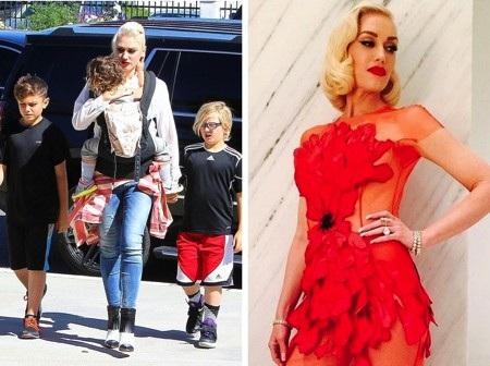 """Gwen Stefani là một trong những ngôi sao táo bạo sinh con ở tuổi 44 và vẫn có thể lấy lại vóc dáng một cách dễ dàng. Nữ ca sĩ cá tính từng chia sẻ rằng: """"Chẳng có bí mật gì cả, bạn chỉ cần ăn uống lành mạnh, tập thể dục và dừng ngay việc cảm thấy hối tiếc cho bản thân đi nhé""""."""