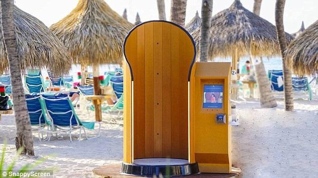 Chiếc máy phù hợp đặt tại các điểm du lịch như hồ bơi, bãi tắm công cộng