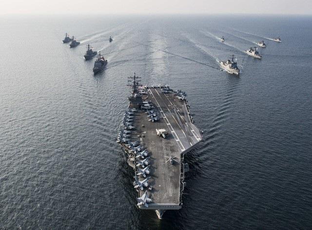 Tàu sân bay hạt nhân USS Ronald Reagan của Hải quân Mỹ (Ảnh: Military)