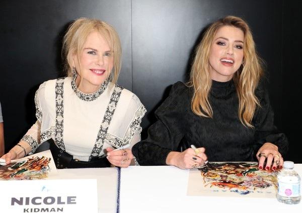Nicole Kidman và Amber Heard dự sự kiện Comic-Con ở San Diego, California, Mỹ ngày 21/7 vừa qua để quảng bá phim mới Aquaman
