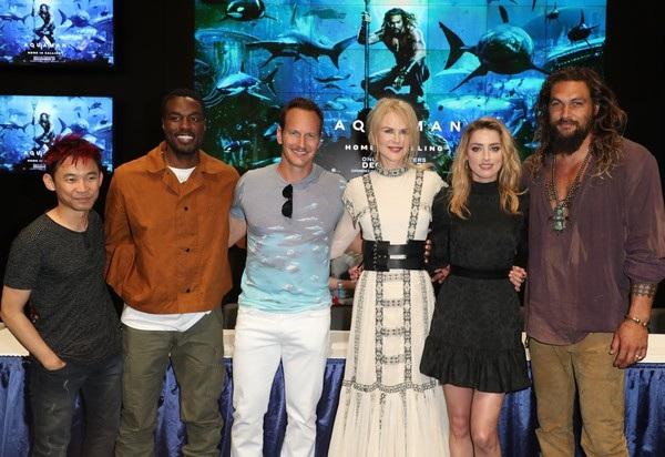 Đoàn làm phim Aquaman cùng tham dự sự kiện này