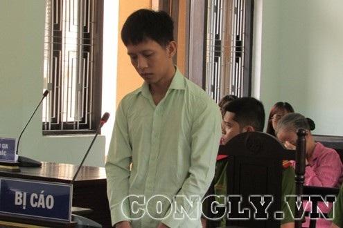 Bị cáo Thắng tại phiên tòa