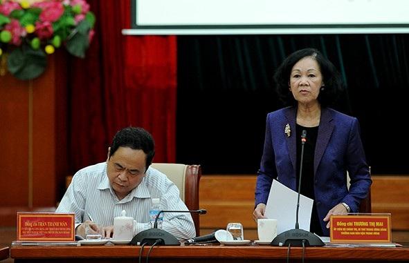 Trưởng Ban Dân vận Trung ương yêu cầu không né tránh, phải nắm chắc tình hình quần chúng nhân dân