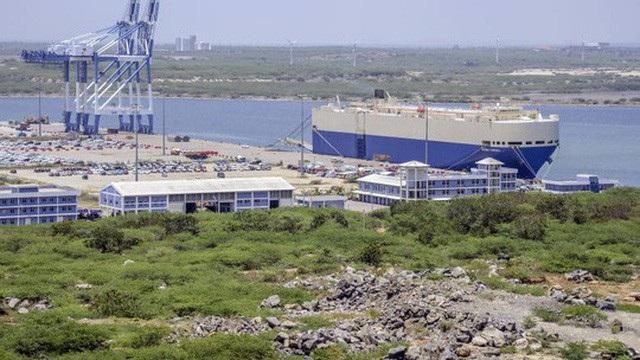 Cảng Hambantota tại Sri Lanka (Ảnh: Bloomberg)