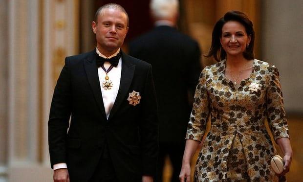 Thủ tướng Malta Joseph Muscat và phu nhân (Ảnh: Reuters)