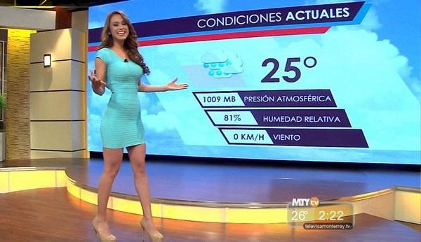 """Yanet Garcia nổi tiếng trên mạng xã hội với biệt danh """"nữ biên tập viên thời tiết nóng bỏng nhất thế giới"""""""