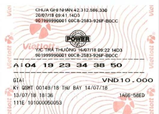 Tấm vé số may mắn của anh Long trúng độc đắc hơn 47 tỷ đồng.