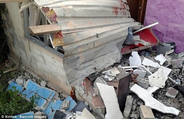 Các vụ đánh bom khiến nhiều cơ sở hạ tầng ở Suweida hư hại. (Ảnh: Tân Hoa xã)