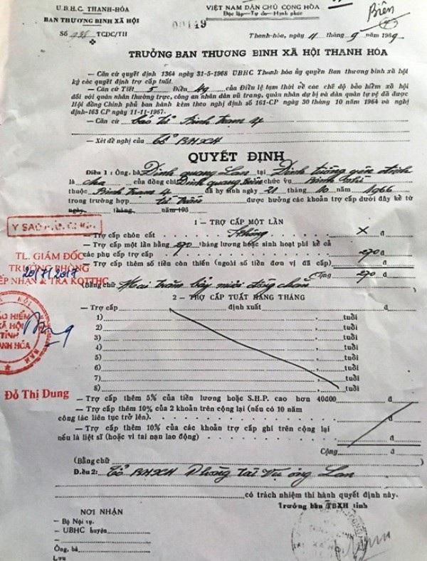 Nhiều bất cập trong việc áp dụng quy định và những sai khác trong hồ sơ nhận trợ cấp một lần về trường hợp của ông Đinh Quang Biên chưa được làm sáng tỏ