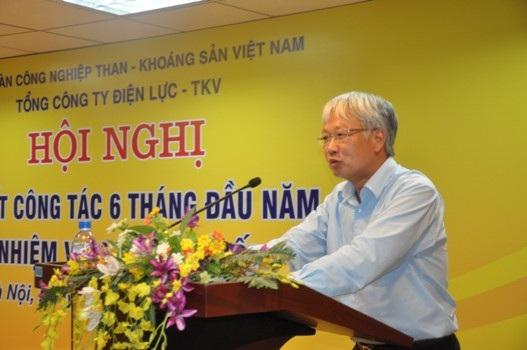 Ông Nguyễn Anh Tuấn, Phó Tổng giám đốc Tập đoàn TKV lưu ý Tổng công ty Điện lực TKV nhiệm vụ 6 tháng cuối năm