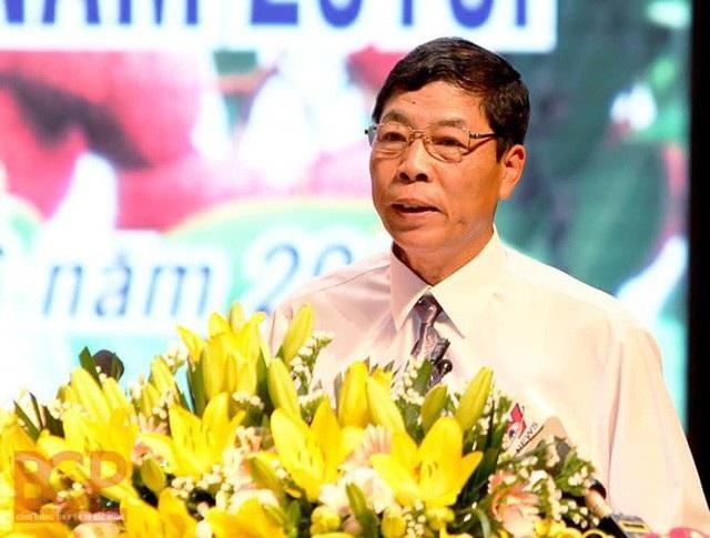Bí thư tỉnh ủy Bắc Giang Bùi Văn Hải phát biểu tại Diễn đàn kinh tế về sản xuất, tiêu thụ vải thiều và các sản phẩm nông sản chủ lực, đặc trưng của tỉnh Bắc Giang năm 2018.