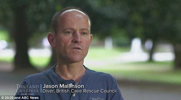 Thợ lặn Anh Jason Mallinson (Ảnh: ABC)