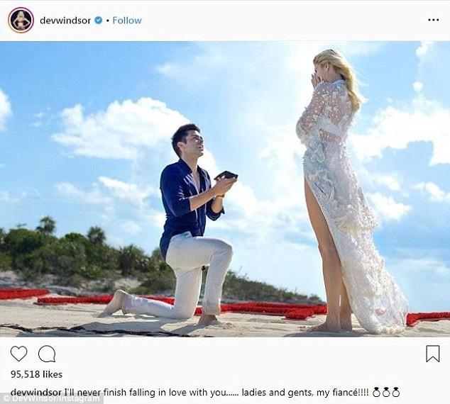 Devon Windsor hạnh phúc khoe ảnh bạn trai cầu hôn cô, siêu mẫu nói bạn trai cô là người đàn ông tuyệt vời nhất thế giới