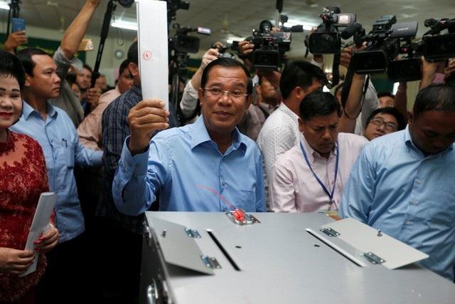 Đảng CPP của Thủ tướng Hun Sen đã dành chiến thắng áp đảo trong cuộc bầu cử Quốc hội Campuchia vừa diễn ra hôm 29/7 (ảnh: Reuters)