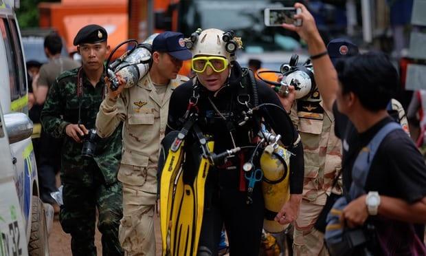 Thợ lặn người Anh John Volanthen, một trong những người hùng đã tìm thấy đội bóng sau khi trực tiếp tìm kiếm 6 ngày trong hang. (Ảnh: Getty)