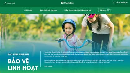 Minh họa website tư vấn bảo hiểm trực tuyến, nơi khách hàng có thể lựa chọn những gói bảo hiểm với mệnh giá bảo vệ đa dạng, phù hợp.