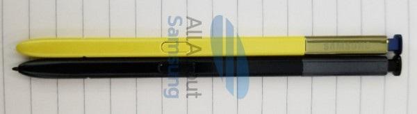 So sánh viết S Pen trên Galaxy Note 9 (màu vàng) và của Galaxy Note 8