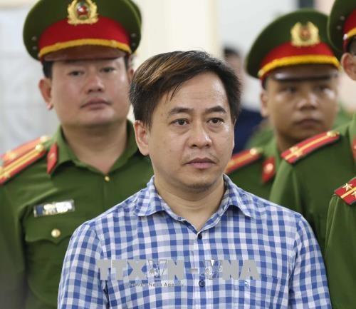 Bị cáo Phan Văn Anh Vũ nghe tòa tuyên án. Ảnh: Doãn Tấn - TTXVN
