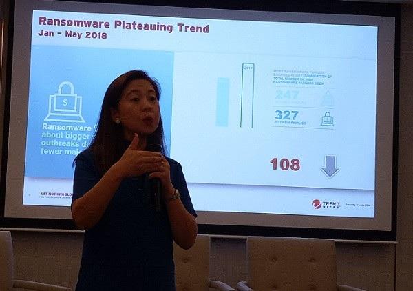 Bà Myla Pilao, Giám đốc Trend Labs của Trend Micro.