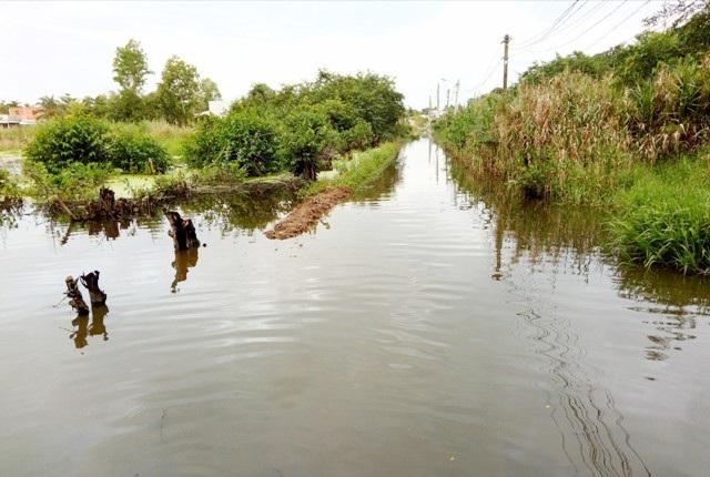 Dân khốn khổ vì sống trong cảnh nước ngập bao vây tại Sóc Trăng - 1