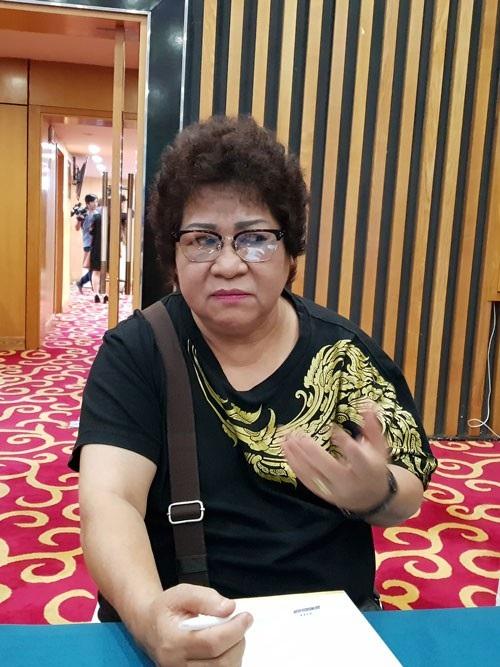 Minh Vượng chia sẻ tại buổi ra mắt phim Gia đình 4.0 ngày 30/7 tại Hà Nội. (Ảnh: Nguyễn Hằng)