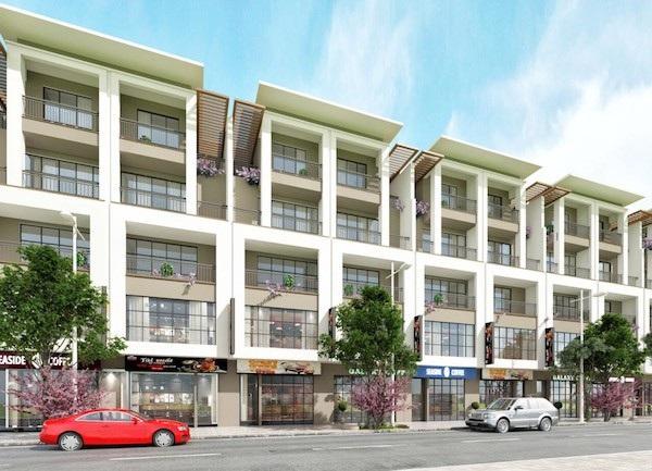 Dãy shophouse hiện đại khu đô thị TMS Grand City Phúc Yên