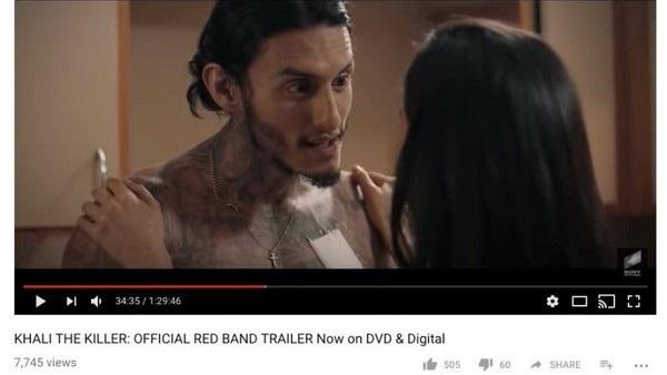 """Trọn vẹn bộ phim dài gần một tiếng rưỡi """"Khali the Killer"""" được Sony Pictures Entertainment đăng tải lên kênh Youtube của mình, thay vì chỉ đoạn trailer ngắn vài phút"""