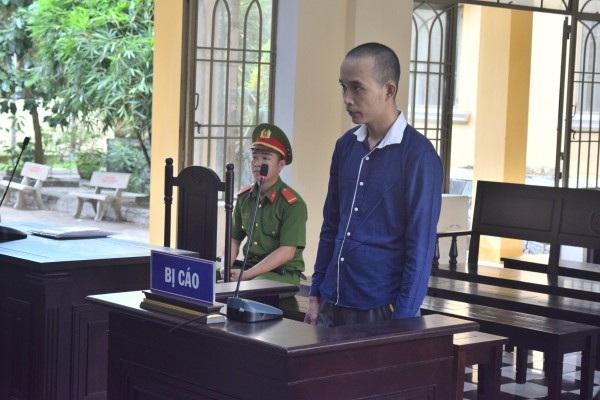 Bị cáo Tín tại phiên tòa