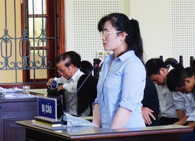 Bị cáo Nguyễn Thị Lam trong phiên xử sáng ngày 5/7