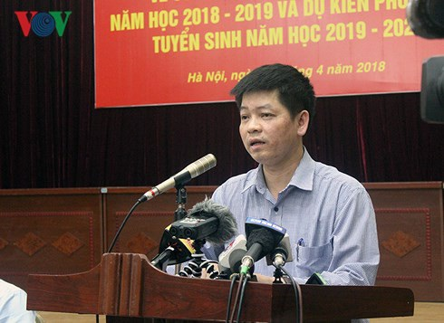Ông Phạm Quốc Toản, Trưởng phòng Quản lý thi và Kiểm định chất lượng, Sở GD&ĐT Hà Nội (Ảnh: VOV).