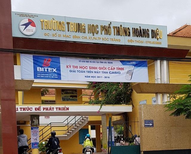 Trường THPT Hoàng Diệu (TP Sóc Trăng) thời gian qua có sai phạm về vấn đề thu chi.