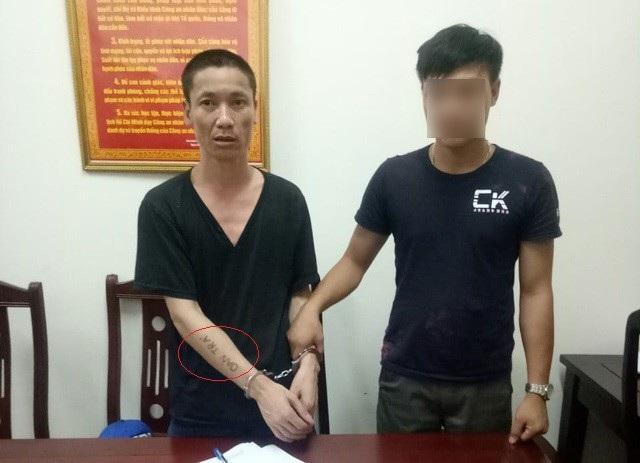 Kẻ trốn truy nã Nguyễn Văn Biên với cánh tay xăm dòng chữ ơn đền, oán trả