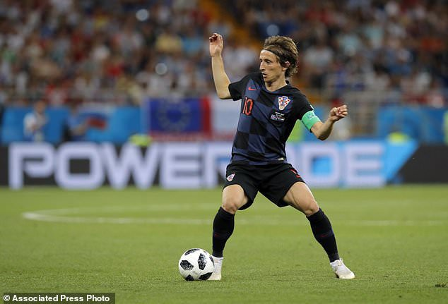 Modric đã dẫn dắt Croatia vào bán kết World Cup 2018
