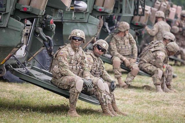 Quân nhân Mỹ trong một cuộc tập trận tại Ba Lan năm 2017 (Ảnh: AFP)