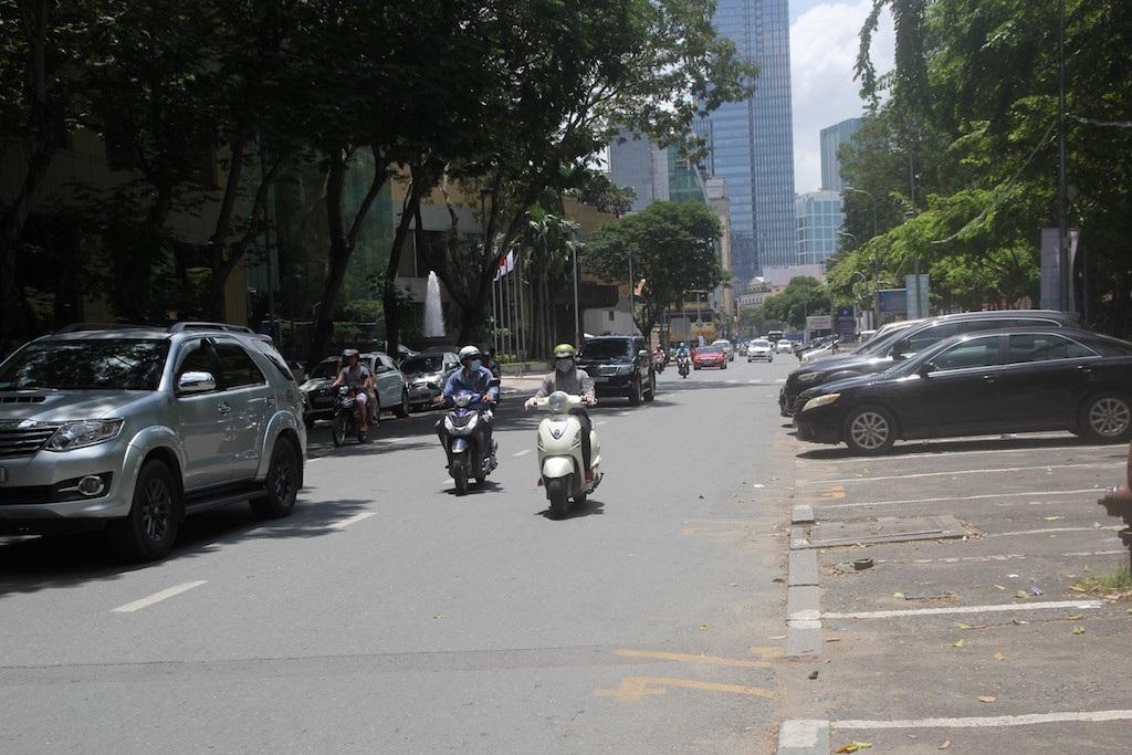 Giao thông khu vực trung tâm thành phố khá thông thoáng