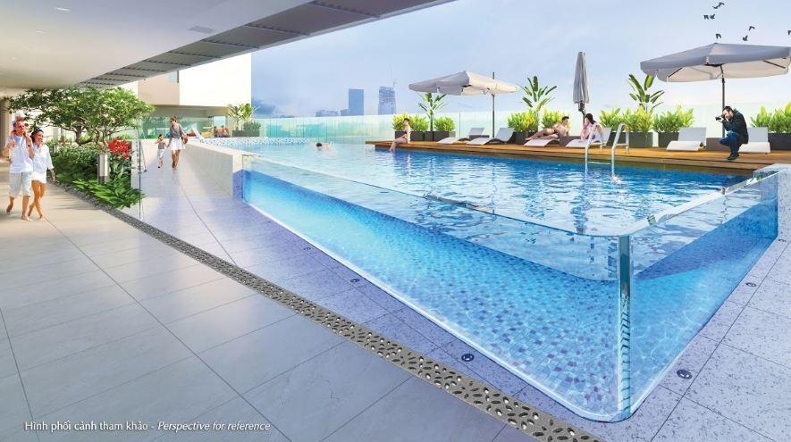 Hưng Phúc Premier là dự án căn hộ đầu tiên của cả nước xây dựng hồ bơi xuyên sáng dành riêng cho cư dân