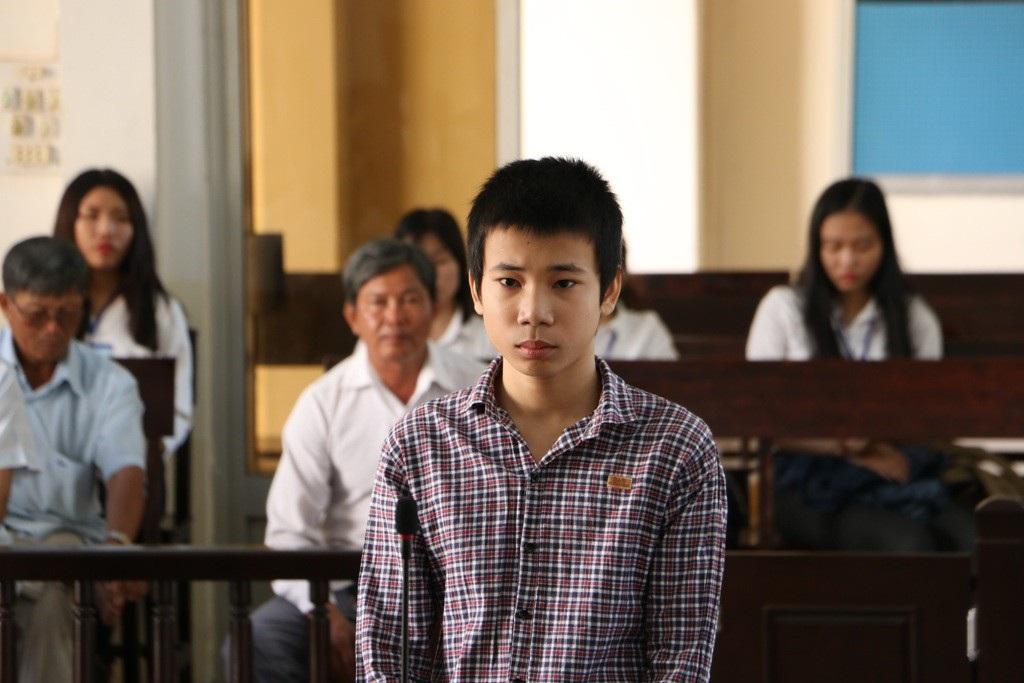 Bị cáo Lê Bá Lâm tại phiên tòa sáng nay