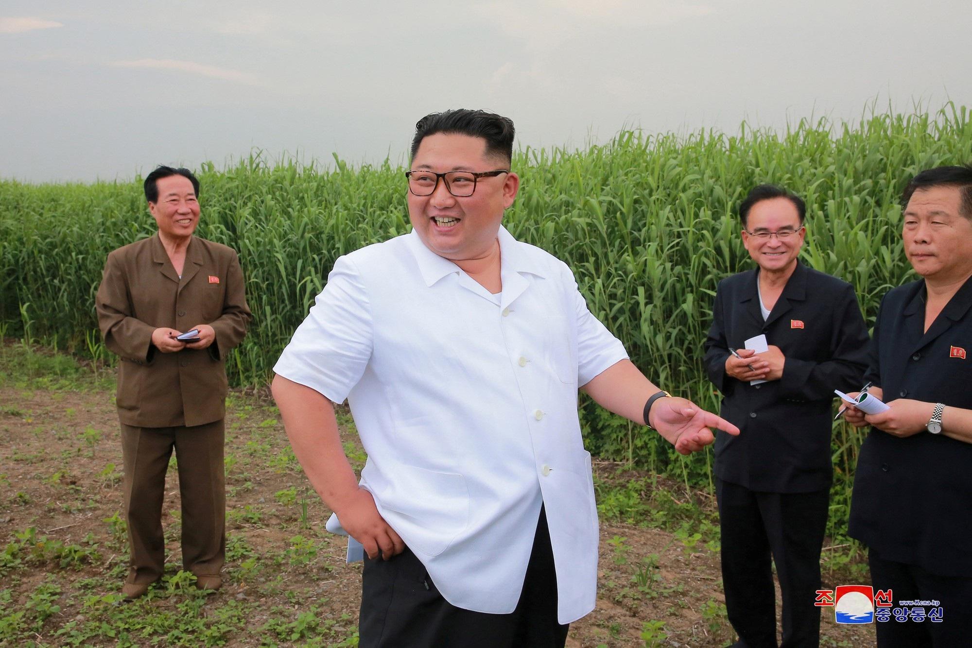 Nhà lãnh đạo Kim Jong-un tới thăm huyện Sindo, tỉnh Bắc Phyongan hồi tháng 6.