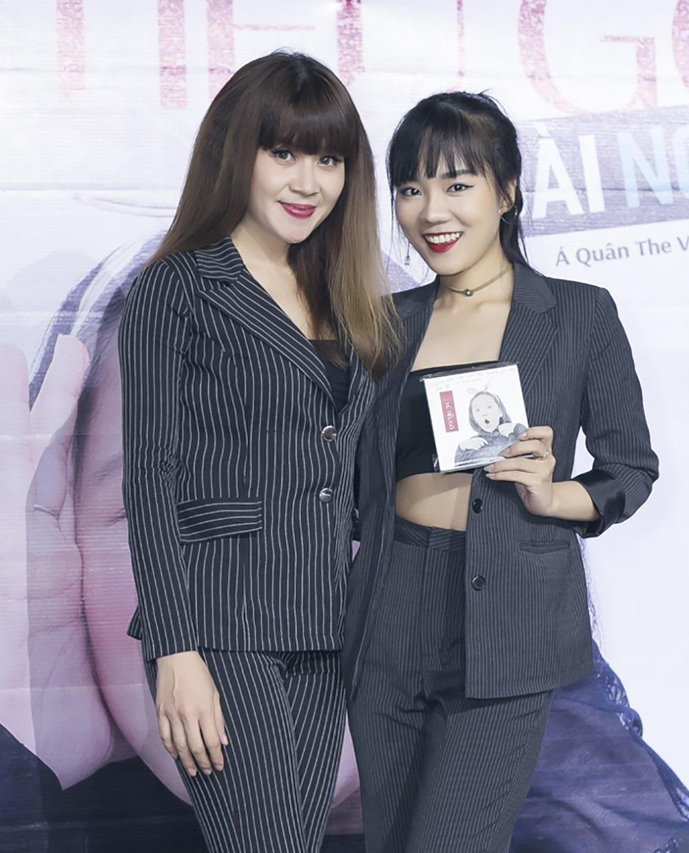 Ca sĩ Khánh Linh đến chúc mừng nhạc sĩ Lưu Thiên Hương và Á quân The Voice kids